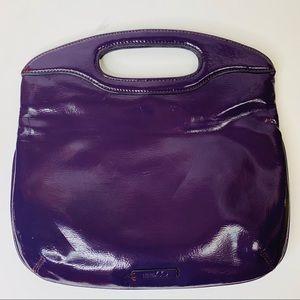 Nine & Co Voyage Clutch Purple Patent Handbag
